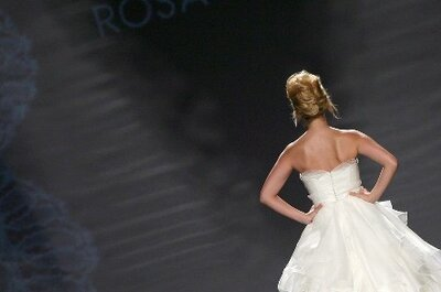 High Waists and V-Necks in the Rosa Clará 2011 Bridal Collection