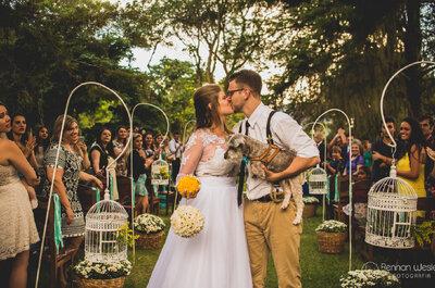 Casamento de Kiva & Pedro: de dia, no campo e com decoração rústica linda!