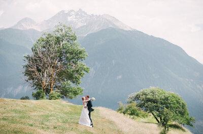 Heiraten inmitten einer atemberaubenden Bergkulisse im Hotel Guarda Val: Was will man mehr?