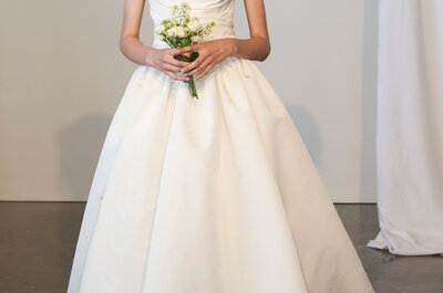 Románticos y etéreos los vestidos de novia de Marchesa 2015