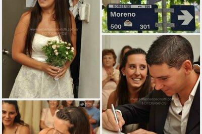 Otra inspiradora real wedding desde Argentina