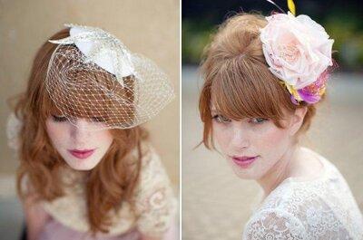 Tocados y accesorios vintage para novia, tendencias 2013