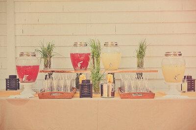 Saftbars für Ihre Hochzeitsfeier - Originell und kreativ