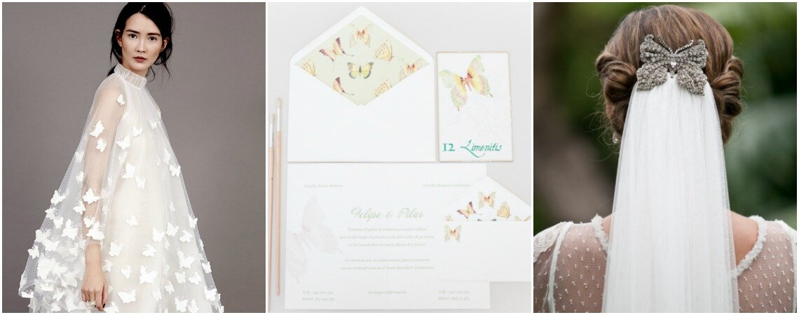 41 ideas fantásticas para decorar tu matrimonio con mariposas. ¡Toma nota!