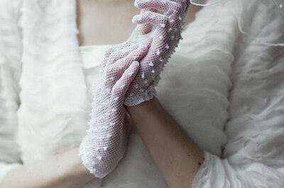 Lindas opções de luvas para noivas