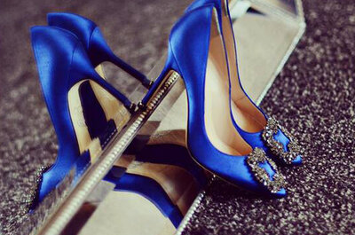Something blue: sapatos azuis para noivas modernas