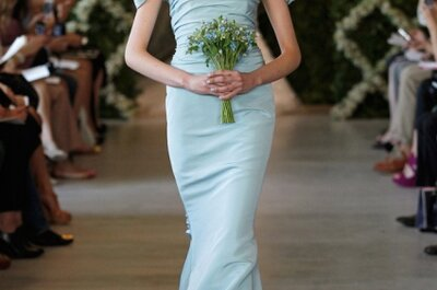 Spring 2013 Blue Wedding Dress Trend: The New Shade of Elegance