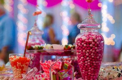 Roze trouwdecoratie: van zacht en zoet tot zuurstok