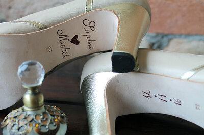 Sapatos exclusivos, o complemento ideal para seu vestido de noiva!