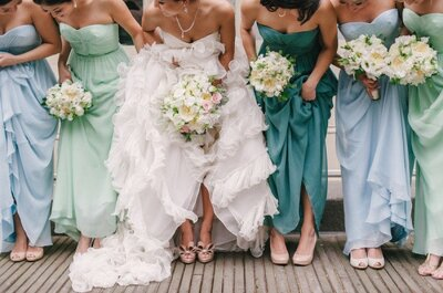 Mismatching bridesmaids are a match made in heaven!