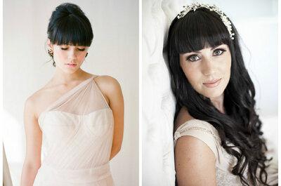 Ideas de peinados de novia para lucir espectacular con tu flequillo