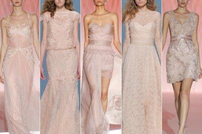 Abiti da sposa rosa per il 2015: ed è subito pink-power mania!