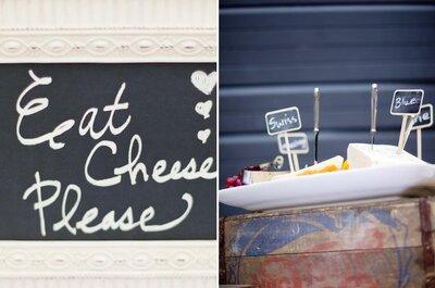 Agrega una mesa de quesos al servicio de catering de tu boda