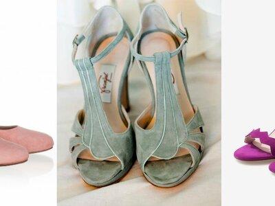 Entdecken Sie die schönsten farbigen Brautschuhe 2017 – Der Farbklecks im Brautlook