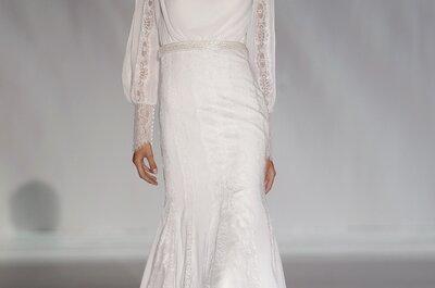 Los vestidos de novia 2015 con manga larga, tu mejor acercamiento a la realeza