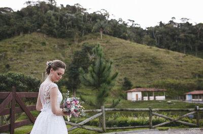 Faça um destination wedding perfeito no campo com todo charme da região serrana do Rio!