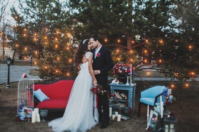 Необычная весенняя свадьба Ольги и Андрея