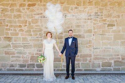 Die Hochzeit von Hannah und Philipp in Baden-Württemberg: bunt, schlicht, bezaubernd!