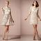 Vestidos cortos en color nude con detalles de encaje, escote ilusión y siluetas favorecedoras