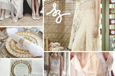 Toque retro de ensueño: Una boda inspirada en los años 20 con detalles fenomenales