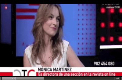 Mónica Martínez en Territorio Comanche de Telemadrid. Entrevista a la directora de Zankyou Magazine
