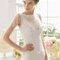 Hochzeits-Kleid: Brautkleid mit U-Boot Ausschnitt und Details