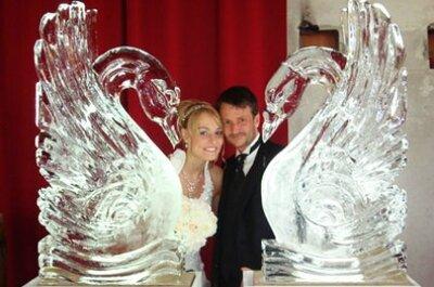 Eisskulpturen für die Hochzeit - kleine Abkühlung gefällig?