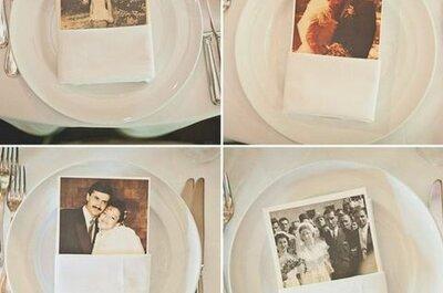 Hochzeitsdekoration mit Fotos
