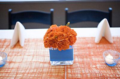 Tolle Beispiele für eine bunte Tischdekoration für Eure Hochzeit