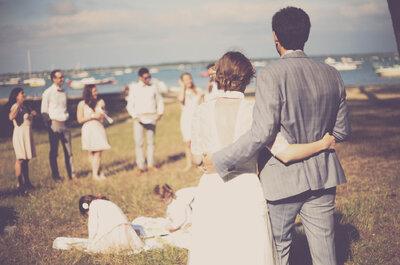 Amélie + Julien : un fabuleux mariage en bord de mer dans le bassin d'Arcachon