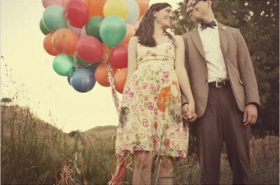Globos para una sesión de fotos temática en tu boda