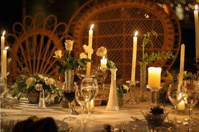 Cómo adornar con recipientes de cristal y darle onda a tu matrimonio