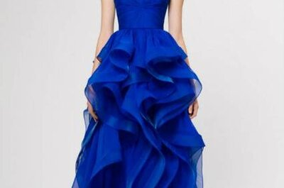 Vestido de noiva 'something (dramatically) blue': e porque não?