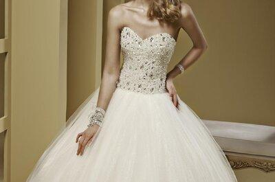 Vestidos de novia con corte tipo A para estilizar tu cintura