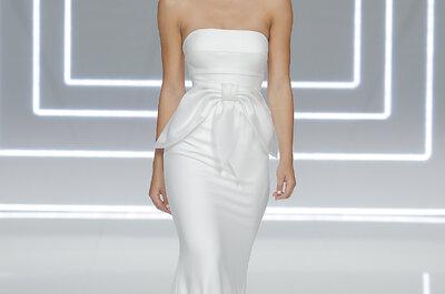Romance y minimalismo: vestidos de novia Rosa Clará 2017