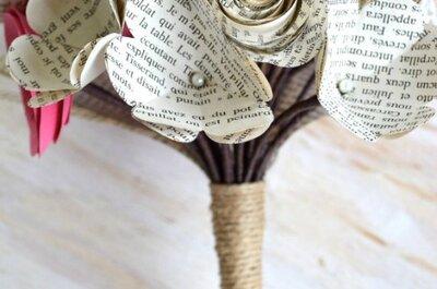 Origami und Recycling-Papier als Hochzeitsdetail