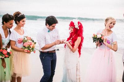 Casamento inspirado na Pequena Sereia faz sucesso pelo mundo