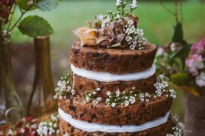 Mmm... Smullen met rustieke bohemian bruidstaarten!