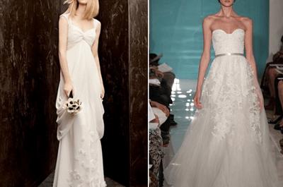 Consejos para elegir un vestido de novia que disimule el abdomen