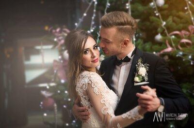 Od urodzinowej kawy do kawowej znajomości- piękny świąteczny ślub!
