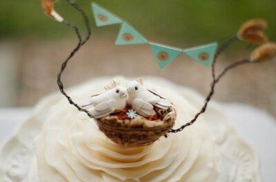 Un sabor delicioso con el toque rústico perfecto: Estos pasteles de boda ¡son un deleite!