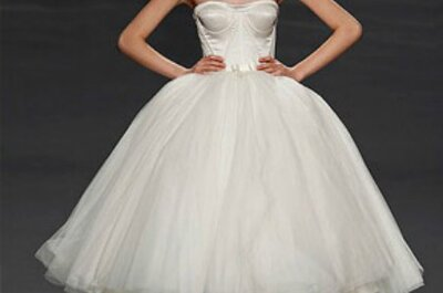 Los más lindos vestidos con corsé para novias