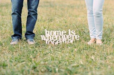 As frases de amor na decoração do seu casamento