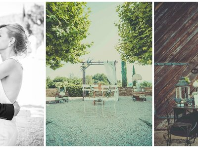 A Rustic Chic Label' Emotion Real Wedding in Provence