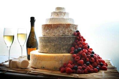 Zaskakujące trendy ślubne: tort weselny z sera