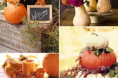 4 idee originali per le vostre decorazioni per un matrimonio autunnale