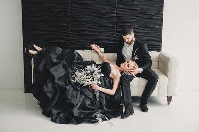 Черная свадьба: роскошная и оригинальная фотосессия Антона и Валерии