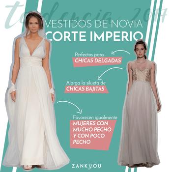 Vestidos de novia corte imperio 2017. ¡Seduce con un poderoso diseño!