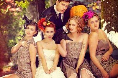 Sesión de fotos de boda inspirada en Halloween