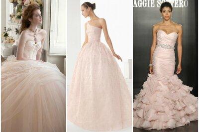 Farbe im Frühling: Rosa Brautkleider aus den Kollektionen 2013!